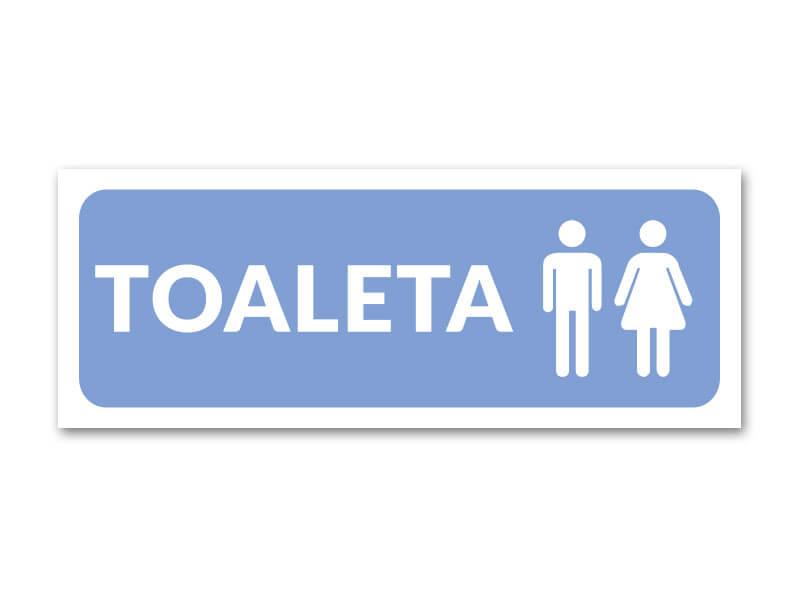 naklejka toaleta