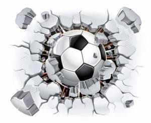 naklejka dekoracyjna piłka