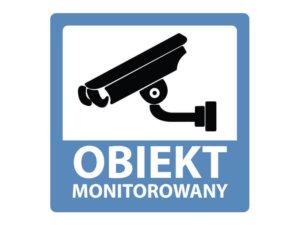 naklejka informacyjna obiekt monitorowany