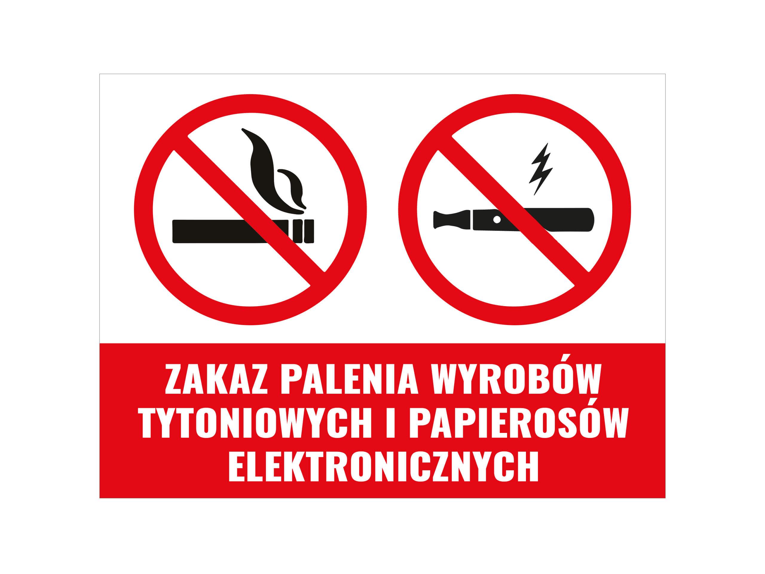 naklejka zakaz palenia e-papierosów
