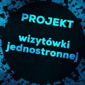 wizytówka projekt
