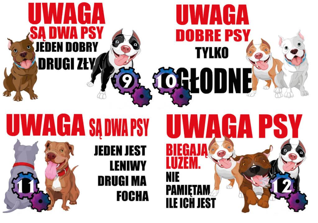 ostrzeżenie psy na posesji