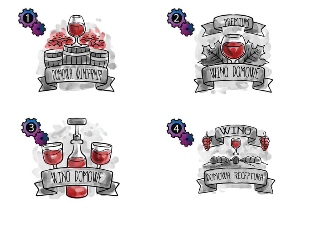 naklejki na wino domowe