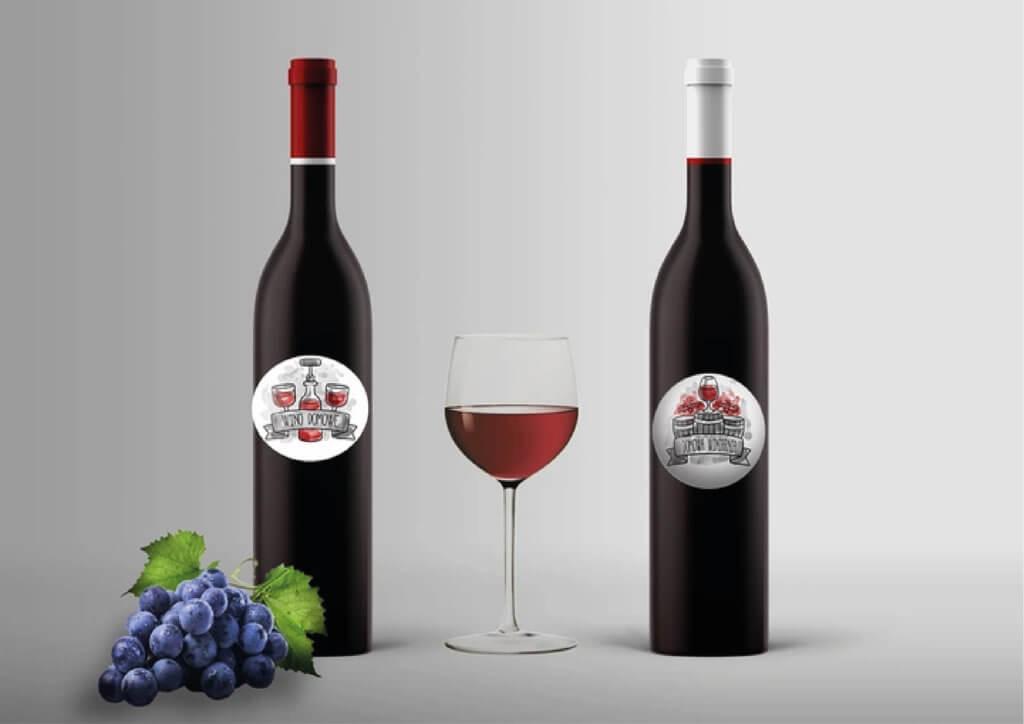 naklejki na wino jak malowane