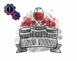 etykiety na wino - rysowane