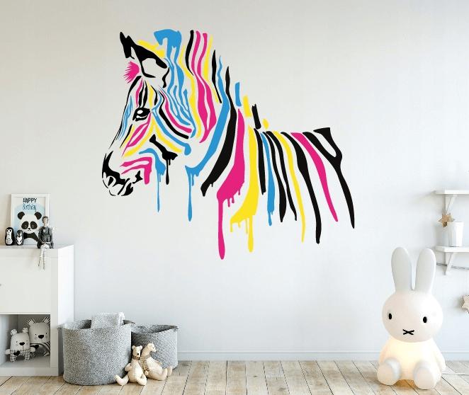 naklejka na ściane zebra