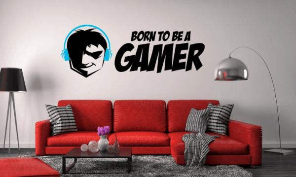 naklejka na ścianę gamer