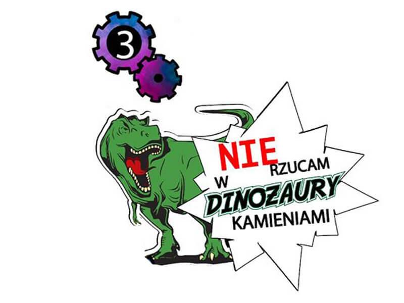 naklejka nie rzucam kamieniami w dinozaury