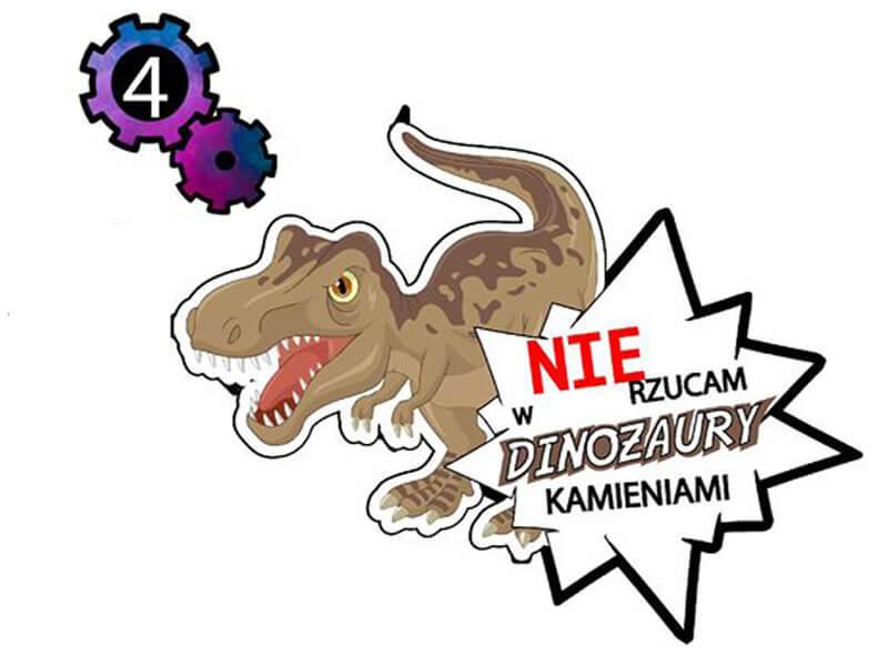 naklejka nie rzucam w dinozaury kamieniami