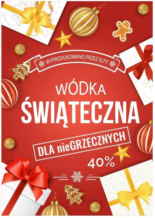 etykiety na alkohol świąteczny