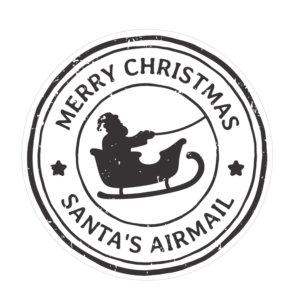 naklejka na prezent świąteczny znaczek
