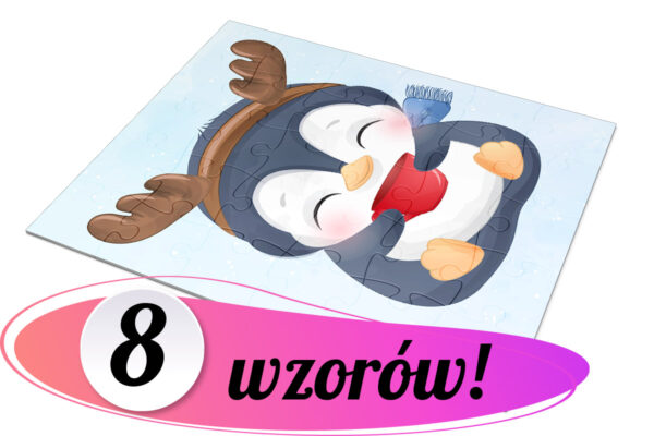 puzzle z pingwinkiem
