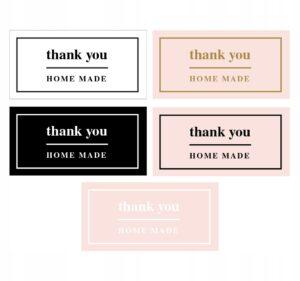 thank you naklejka podziękowanie