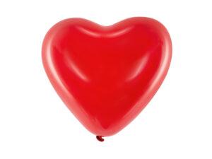 serce czerwone balon lateksowy