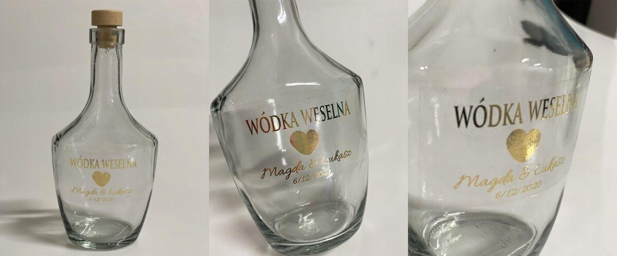 pozłacane naklejki na wódke